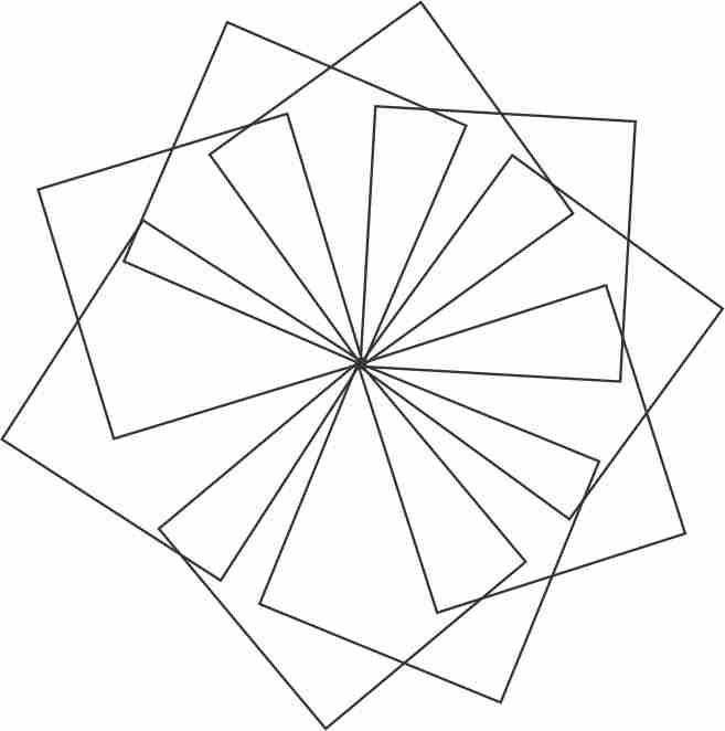 657x662 Creating Flower With Geometric Shapes