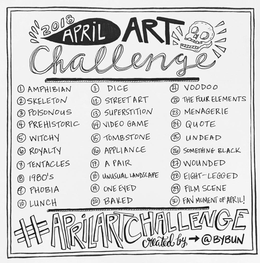 1011x1024 April Art Challenge 2018! By Bun