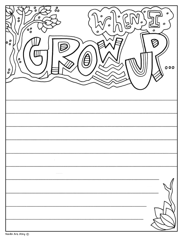 618x800 Coloring Writing Prompts