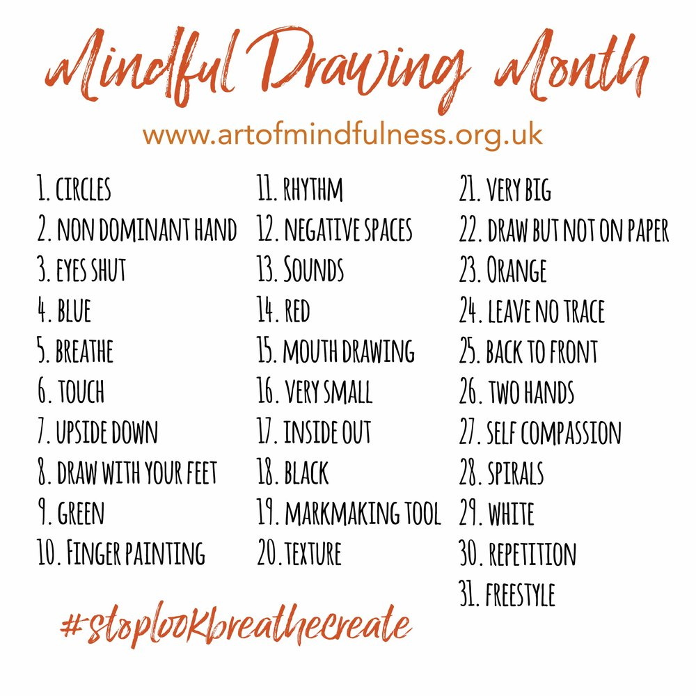 1000x1000 Guidelines For Practice During The Mindful Drawing Challenge Art