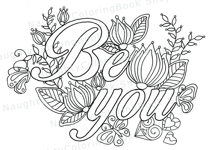 842x595 Be You Coloring Page Law Of Attraction Or Zoom Tumblr Quotes