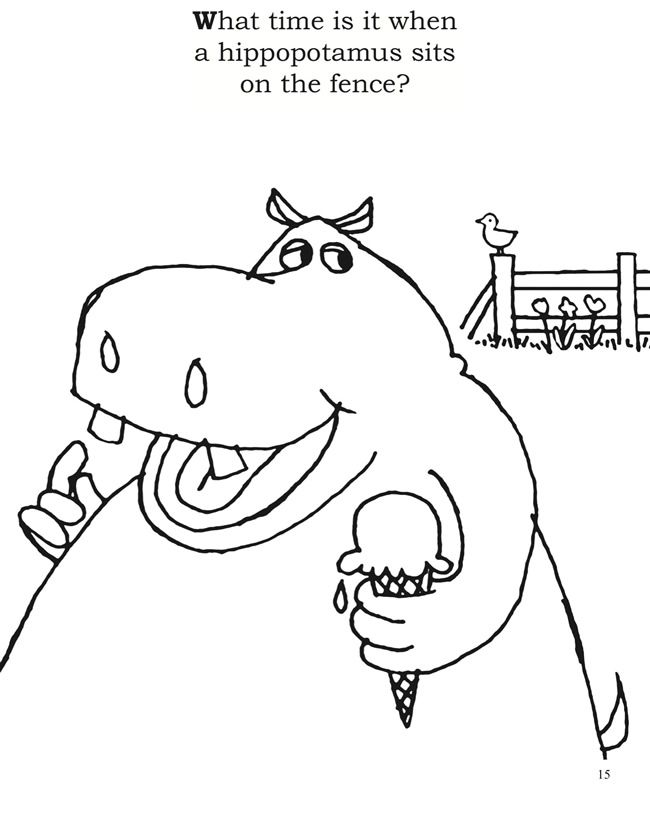 650x818 Seymour Simon's Silly Riddles And Jokes Coloring Book Dover