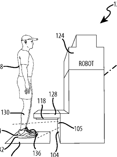 404x539 Disney Patent Scans Feet To Gather Guest Data, Movements