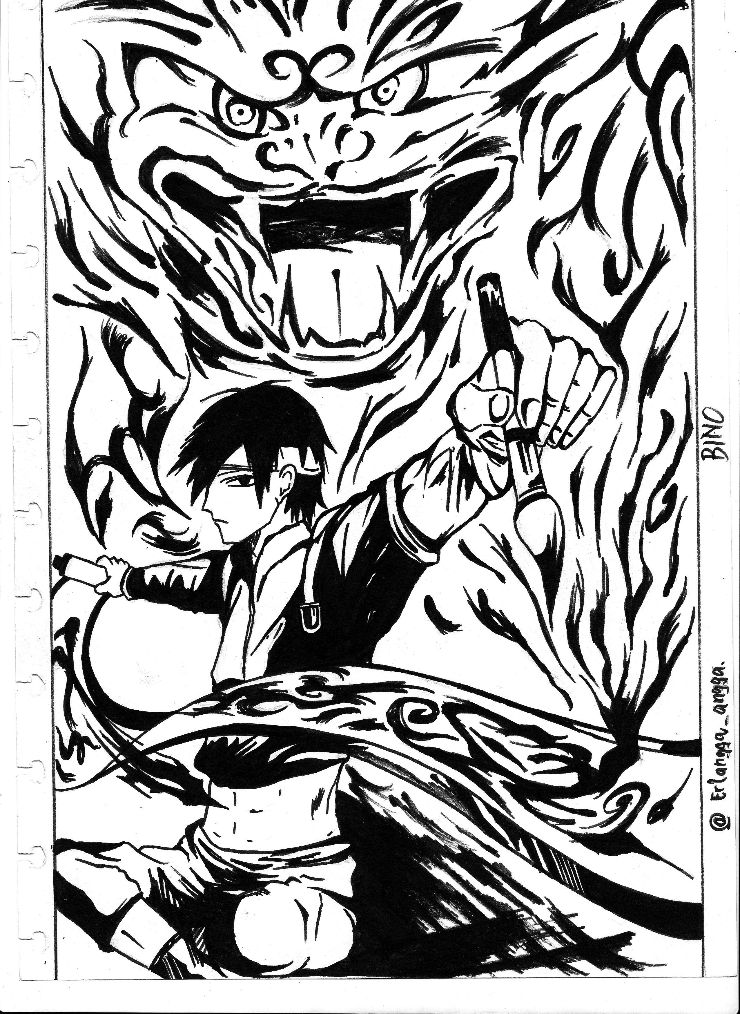 2552x3496 Naruto Sai Ink And Scanner Traditional Arts Pencil Arts