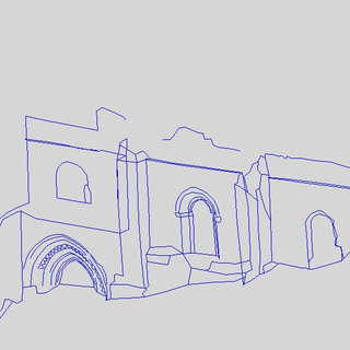 320x320 3d Line Drawing As It Was Designed With Background Laser Scanner