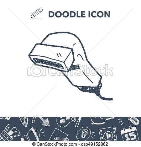 450x470 Doodle Scanner Clip Art Vector