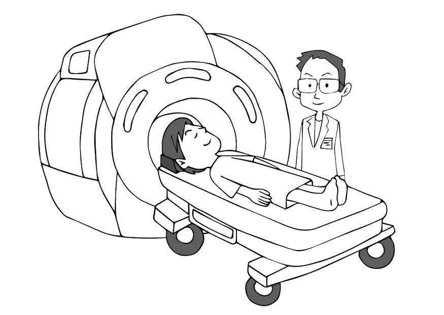 875x620 Coloring Page Mri Scanner