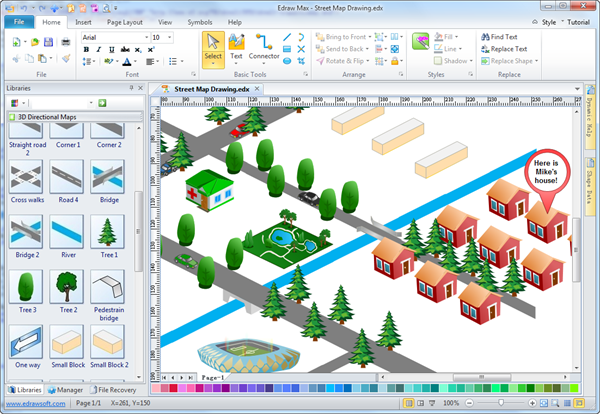 600x414 Easy Street Map Drawing Software