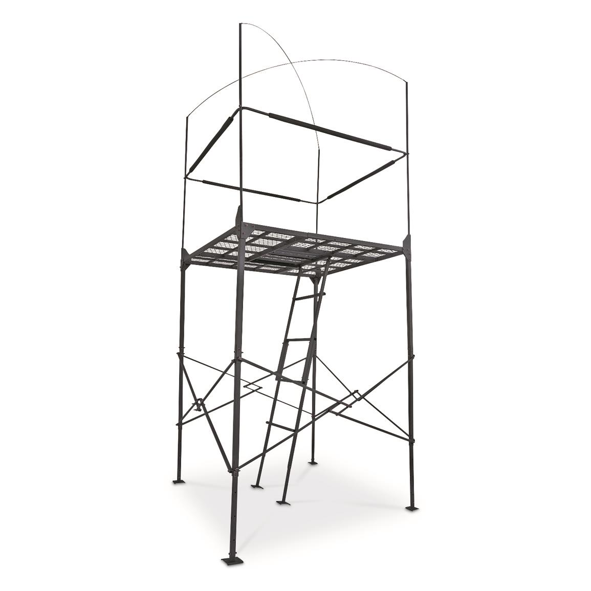1155x1155 Primal Tree Stands 7' Homestead Quad Pod Stand With Enclosure