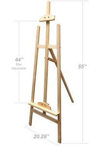 200x300 Simple Wood Wooden Easel Art Stand Drawing Sketching Painting