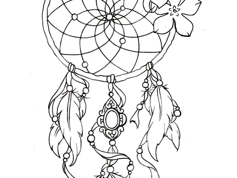 Dreamcatcher Drawing Designs At Getdrawingscom Free For