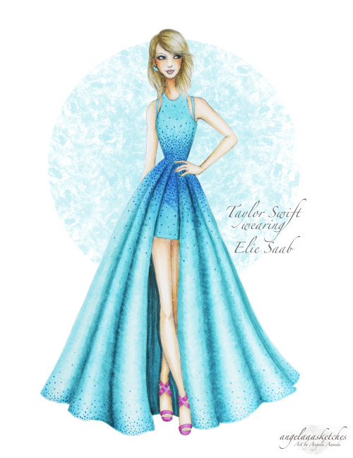 500x648 Elie Saab Drawing Tumblr