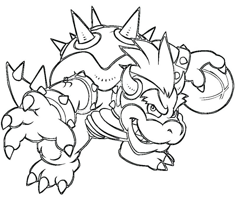 800x667 Delighted Bowser Coloring Pages Dry Drawing