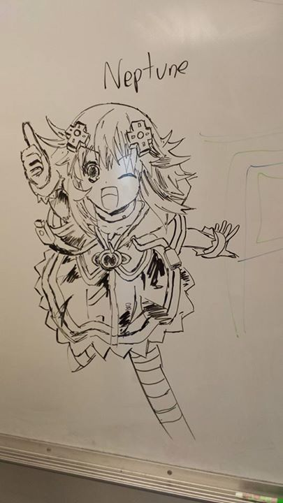 405x720 Neptune Dry Erase Drawing Hyperdimension Neptunia Know Your Meme
