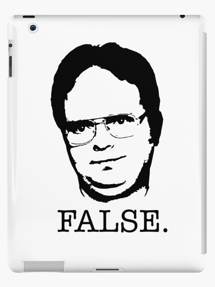 af4007303 750x1000 Dwight Schrute False. (The Office Tv Show) Ipad Cases Amp Skins By
