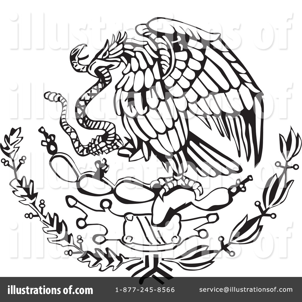 1024x1024 Mexican Flag Eagle Drawing