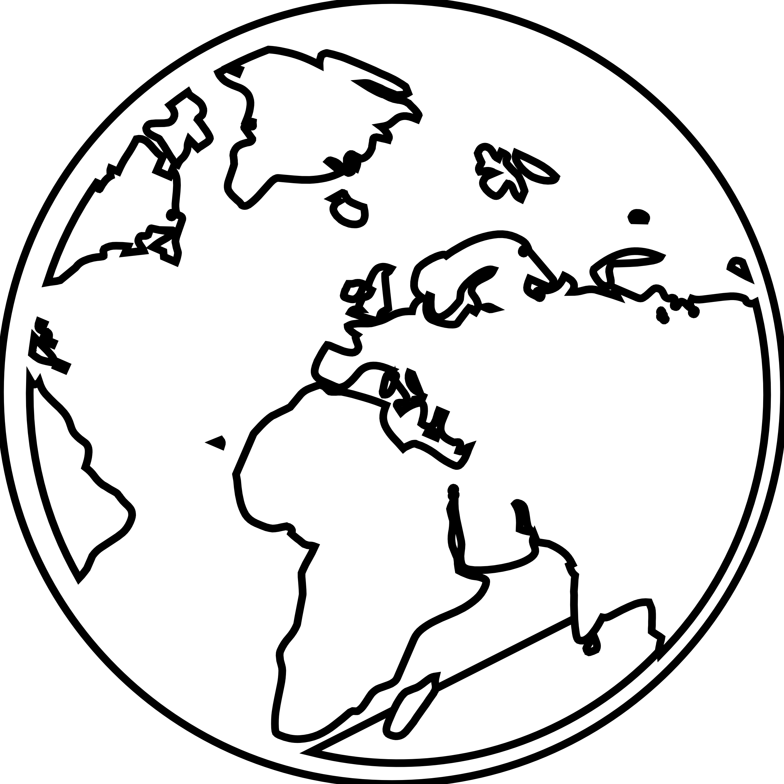 2555x2555 Best Photos Of Outline Drawing Of Earth