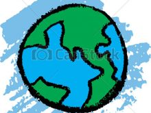 220x165 Earth Drawing Clipart Earth Sketch Crayon Kids Drawing Of Earth