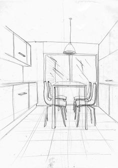 236x336 Dining Room Perspective Sketch Interior Sketches Floor Plans
