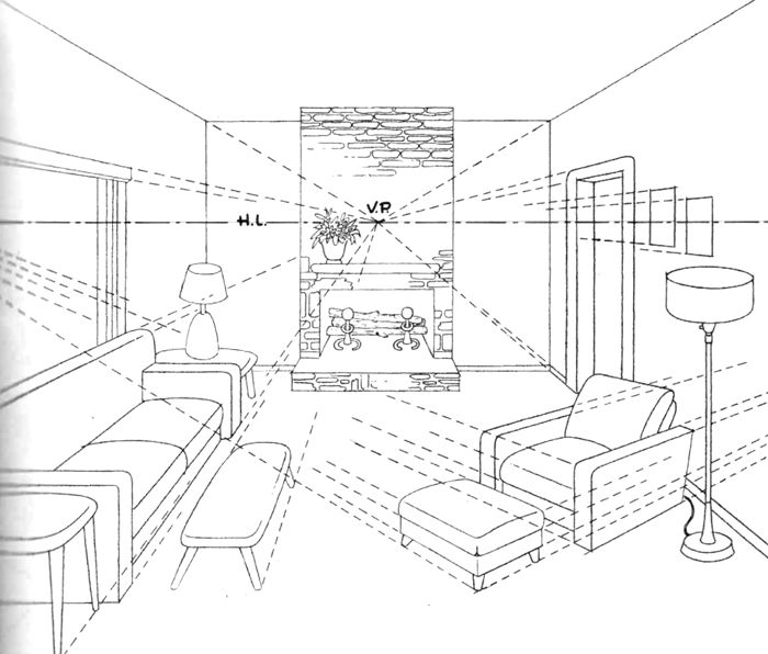 700x596 134 Best 1 Point Perspective Images On To Draw