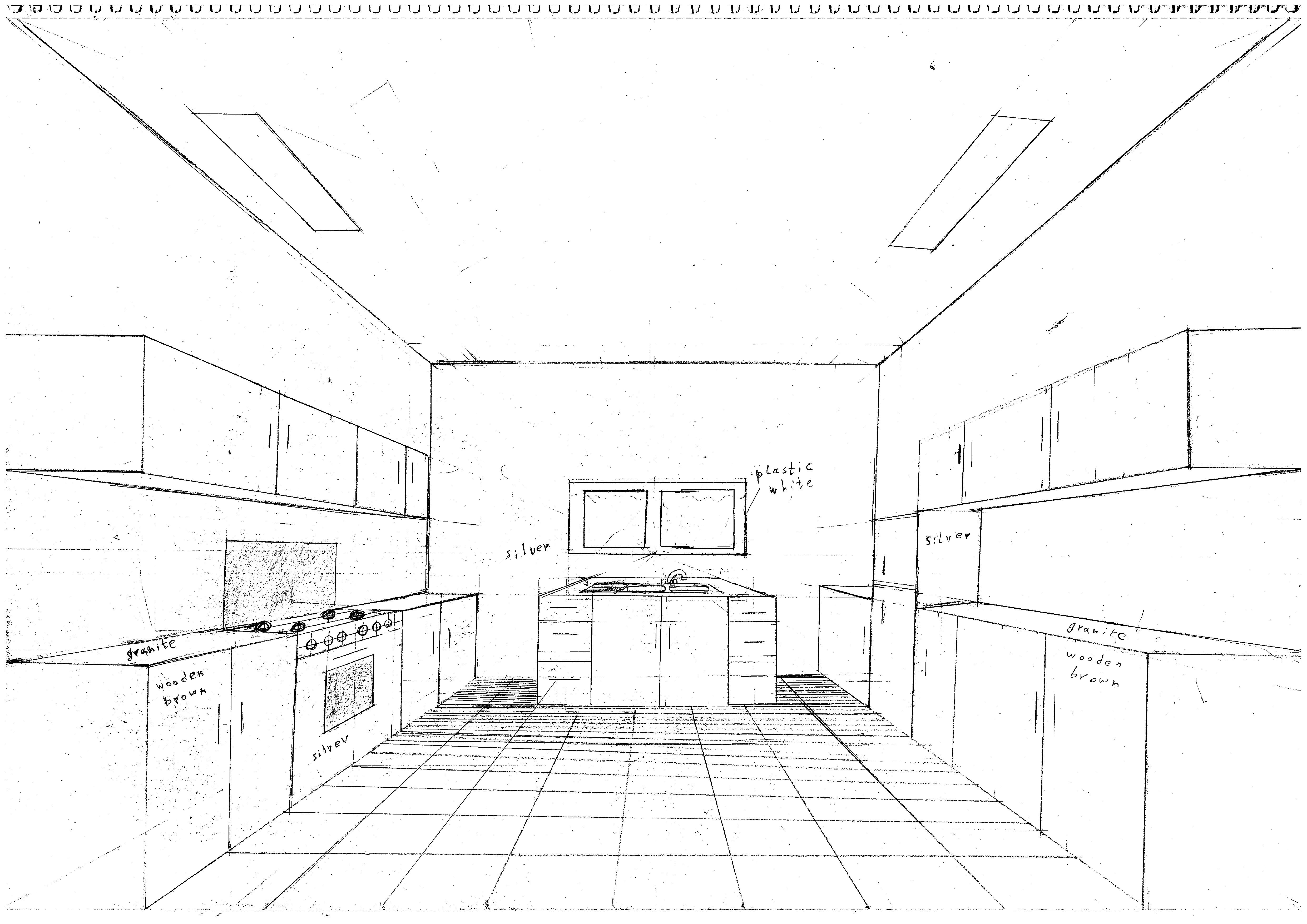4964x3510 Simple Kitchen Drawing. Simple Kitchen Drawing Mayamoka