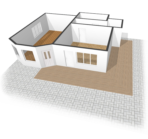 519x490 Collection Of Easy 3d Building Drawing High Quality, Free