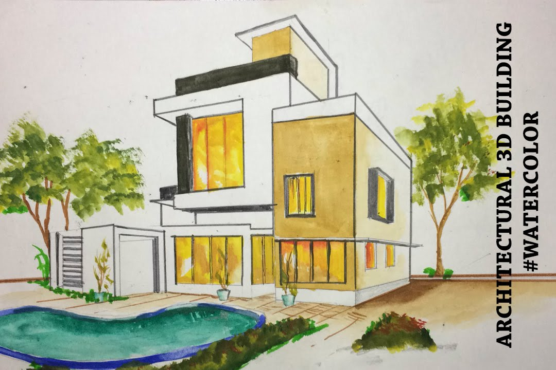 1080x720 Architectural 3d Building Drawing