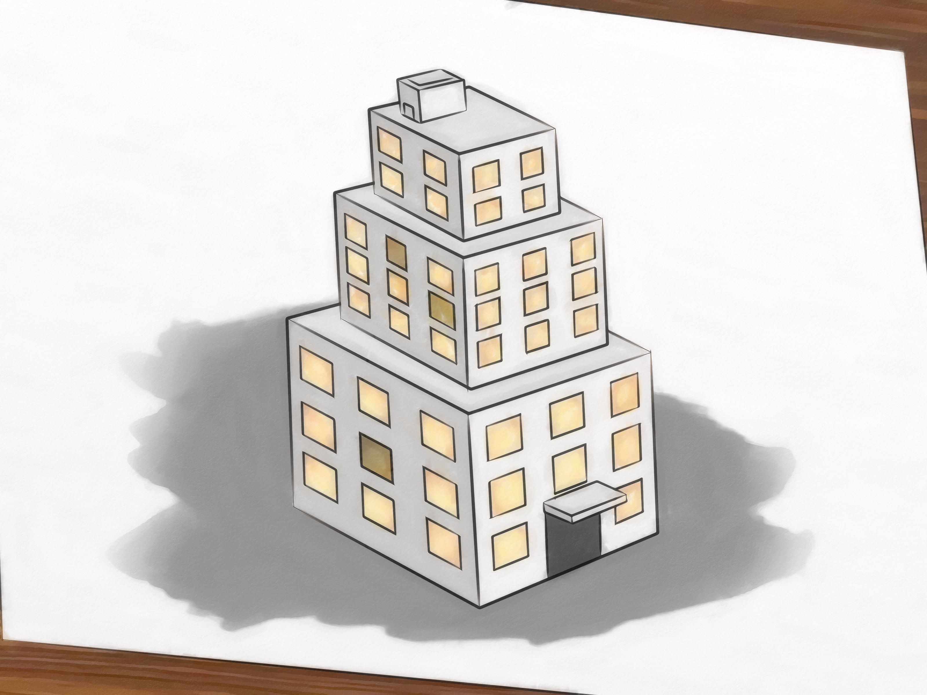 3200x2400 How To Draw Buildings 5 Steps (With Pictures)