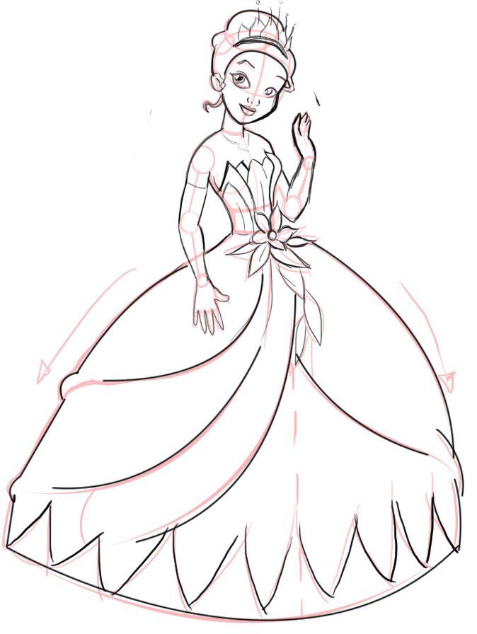 Easy Disney Princess Drawing