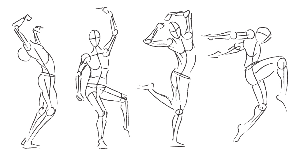 980x510 Collection Of Easy Gesture Drawing High Quality, Free