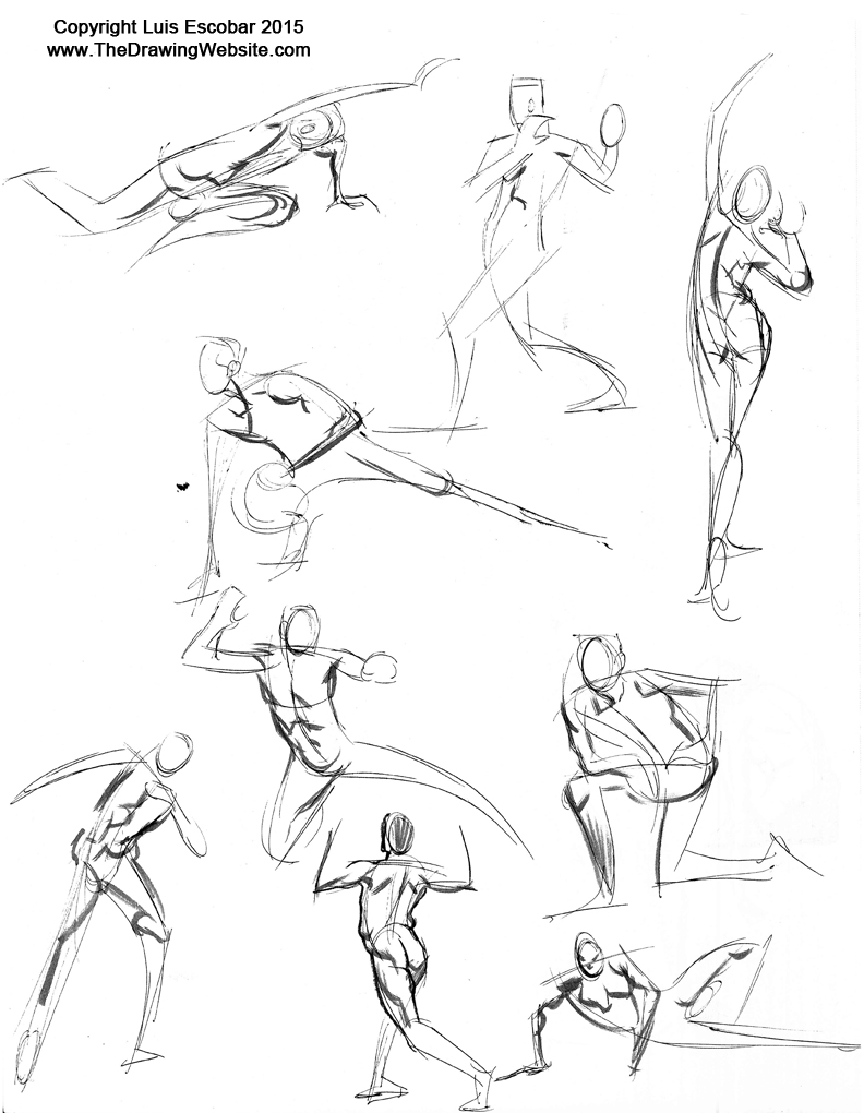 792x1020 Collection Of Gesture Drawing Poses Pdf High Quality, Free