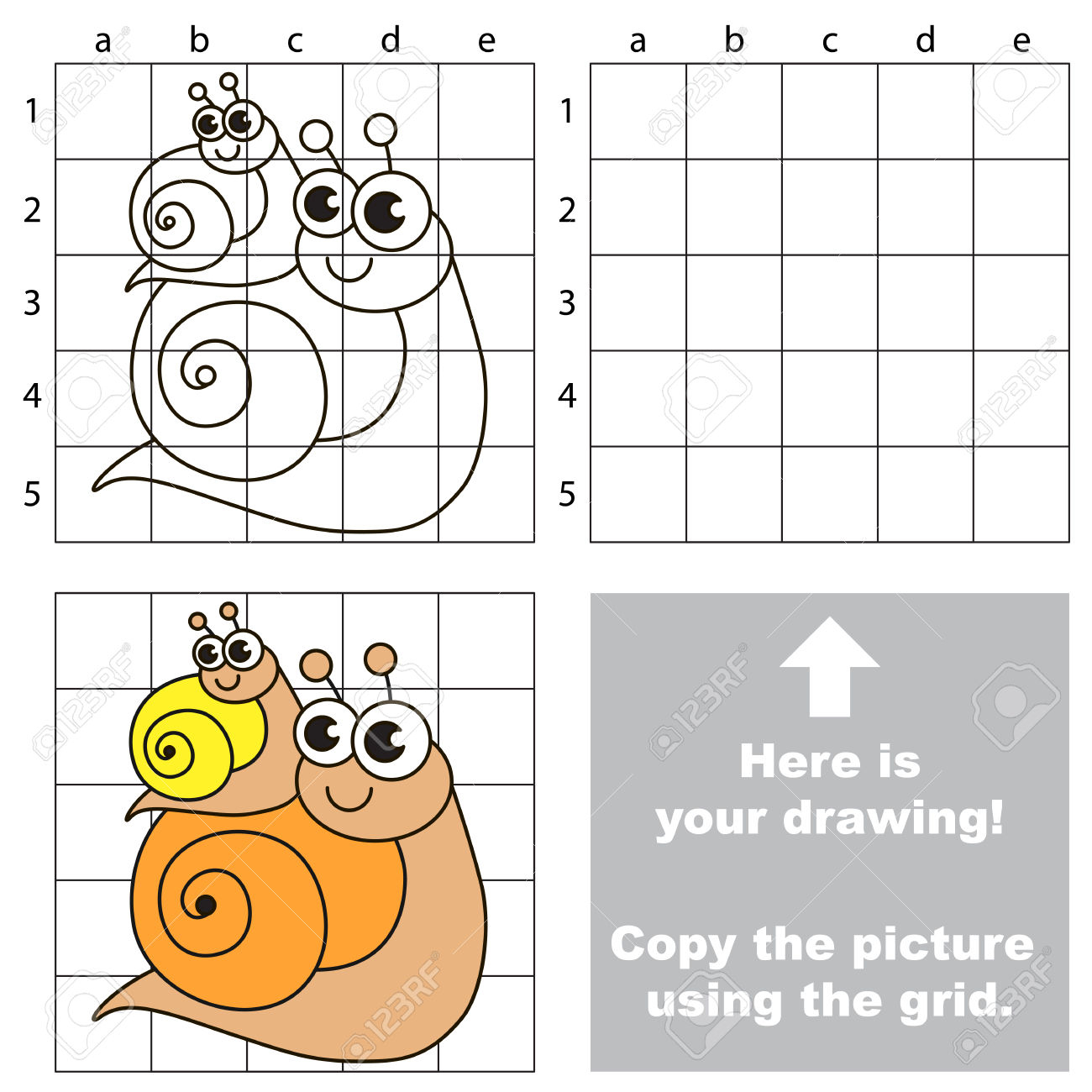 1300x1300 Simple Drawing For Kids To Copy Copy The Picture Using Grid Lines