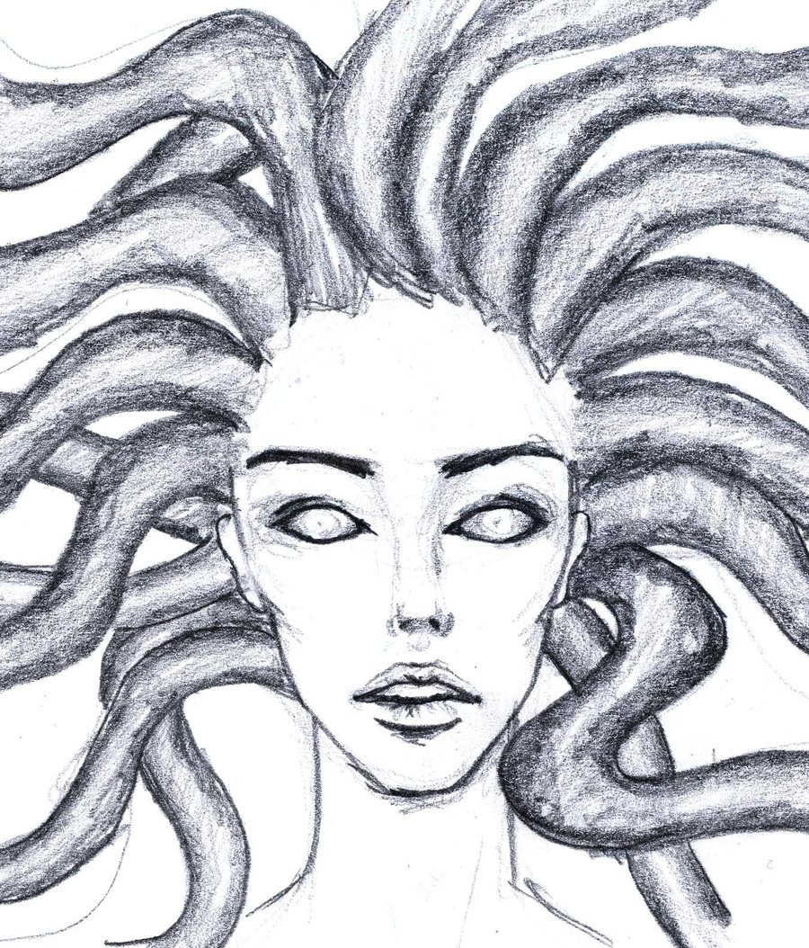 Easy Medusa Drawing At Getdrawings Com Free For Personal
