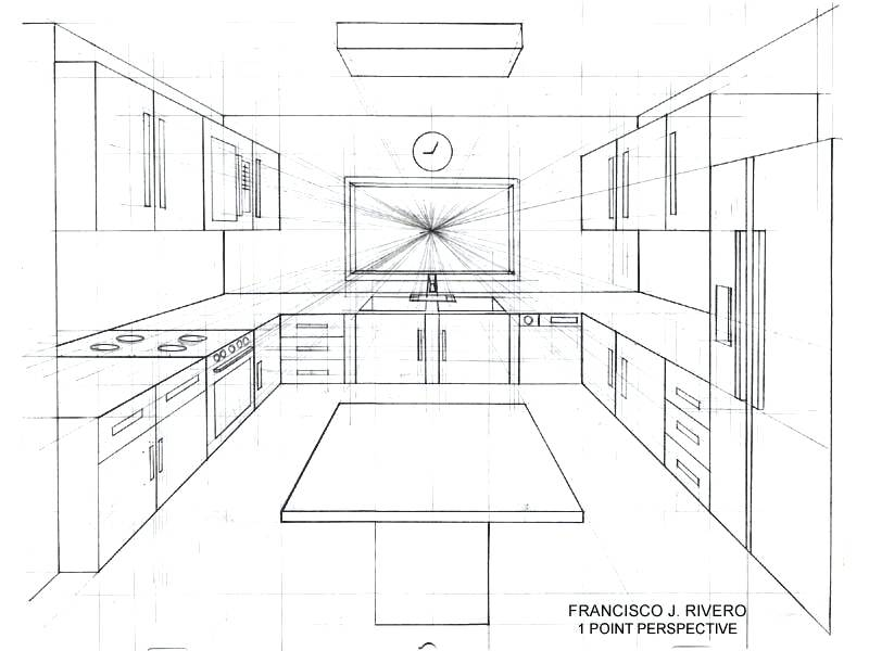 800x600 One Point Perspective Bedroom Drawing Bedroom Drawing Easy Bedroom