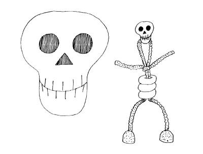 Easy Skeleton Drawing For Kids