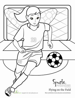 Easy Soccer Drawing