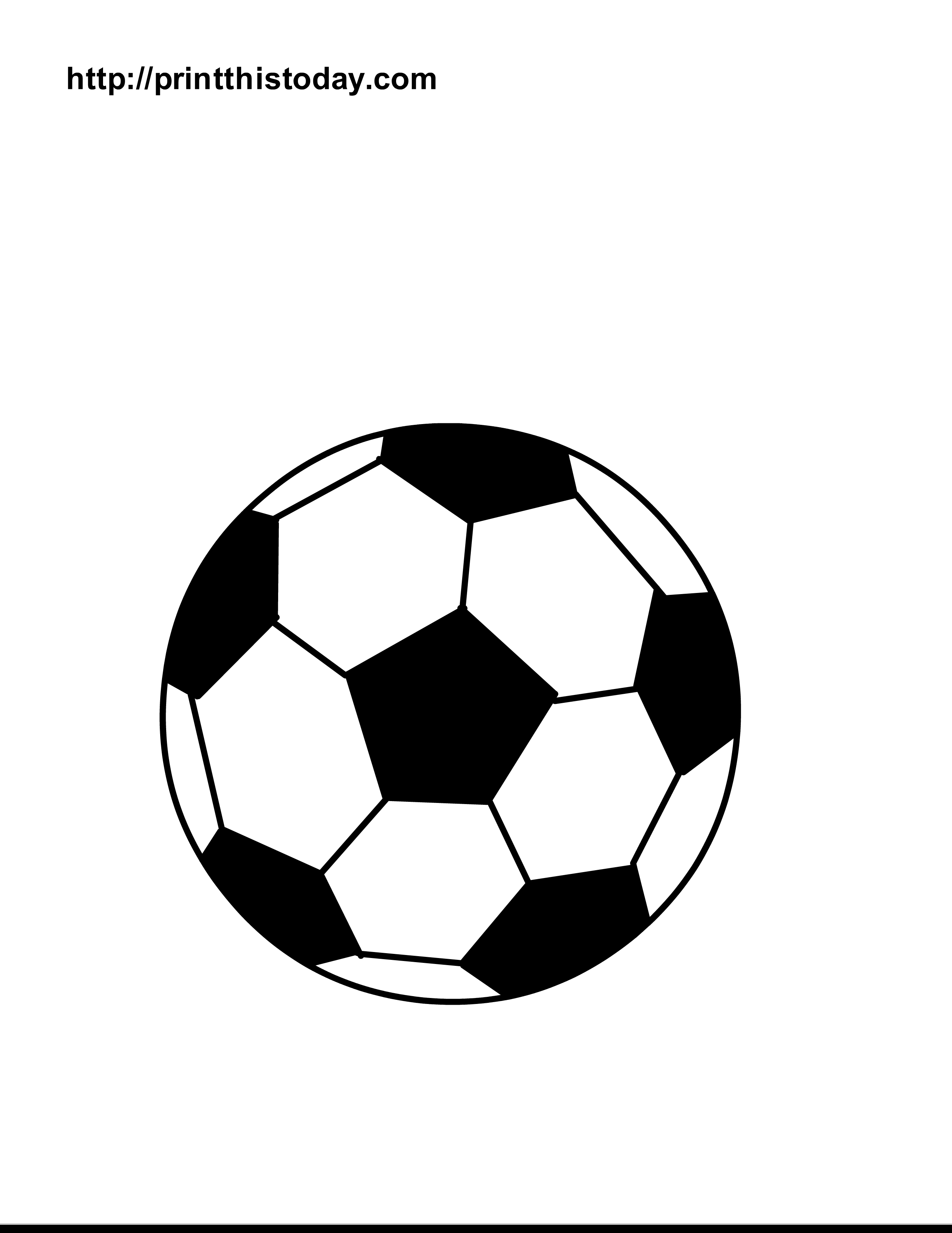 2550x3300 Easy Coloring Pages Of Soccer Balls 7363 Gallery Free Books