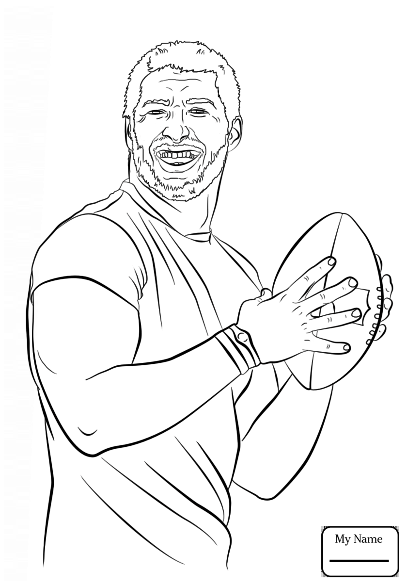 840x1210 Easy Outline Of Football Coloring Page Cartoon Boy With A Soccer
