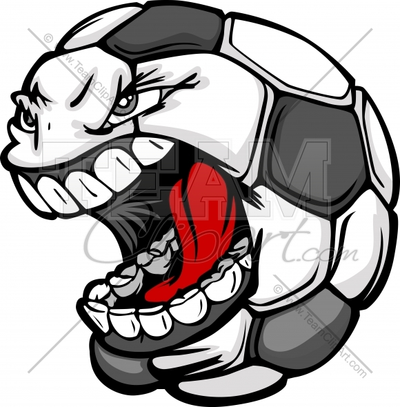 580x590 Screaming Soccer Ball Clipart Image. Easy To Edit Vector Format.