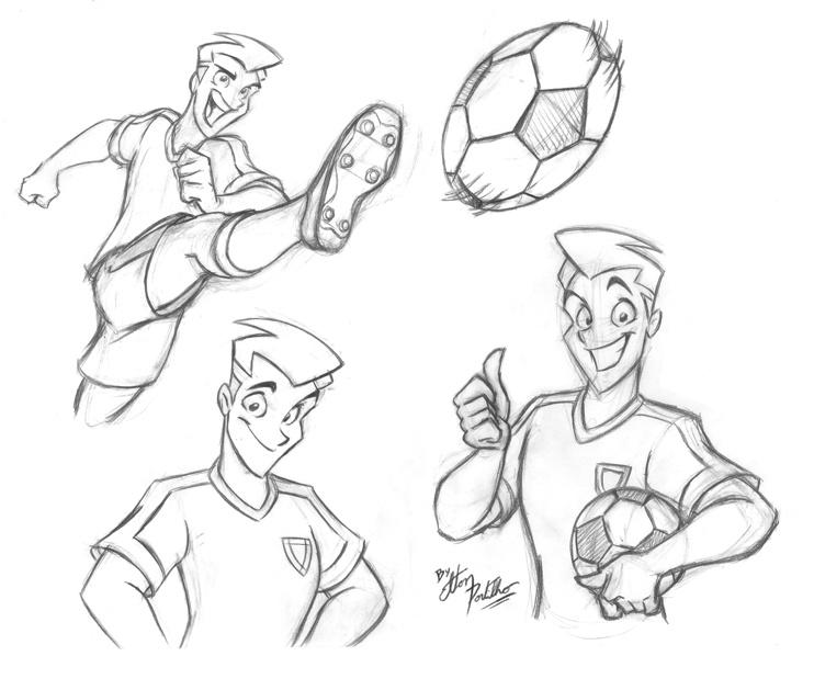 742x629 Soccer Player By Eltonpot