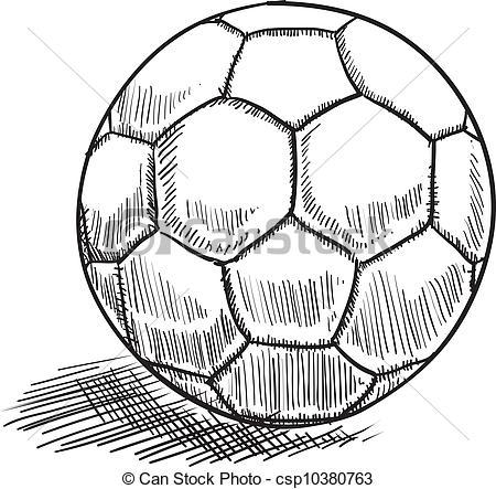 450x443 Soccer Ball Drawing