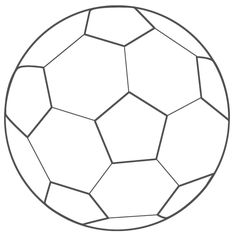 236x236 Free Printable Template Black And White Paper Soccer Ball