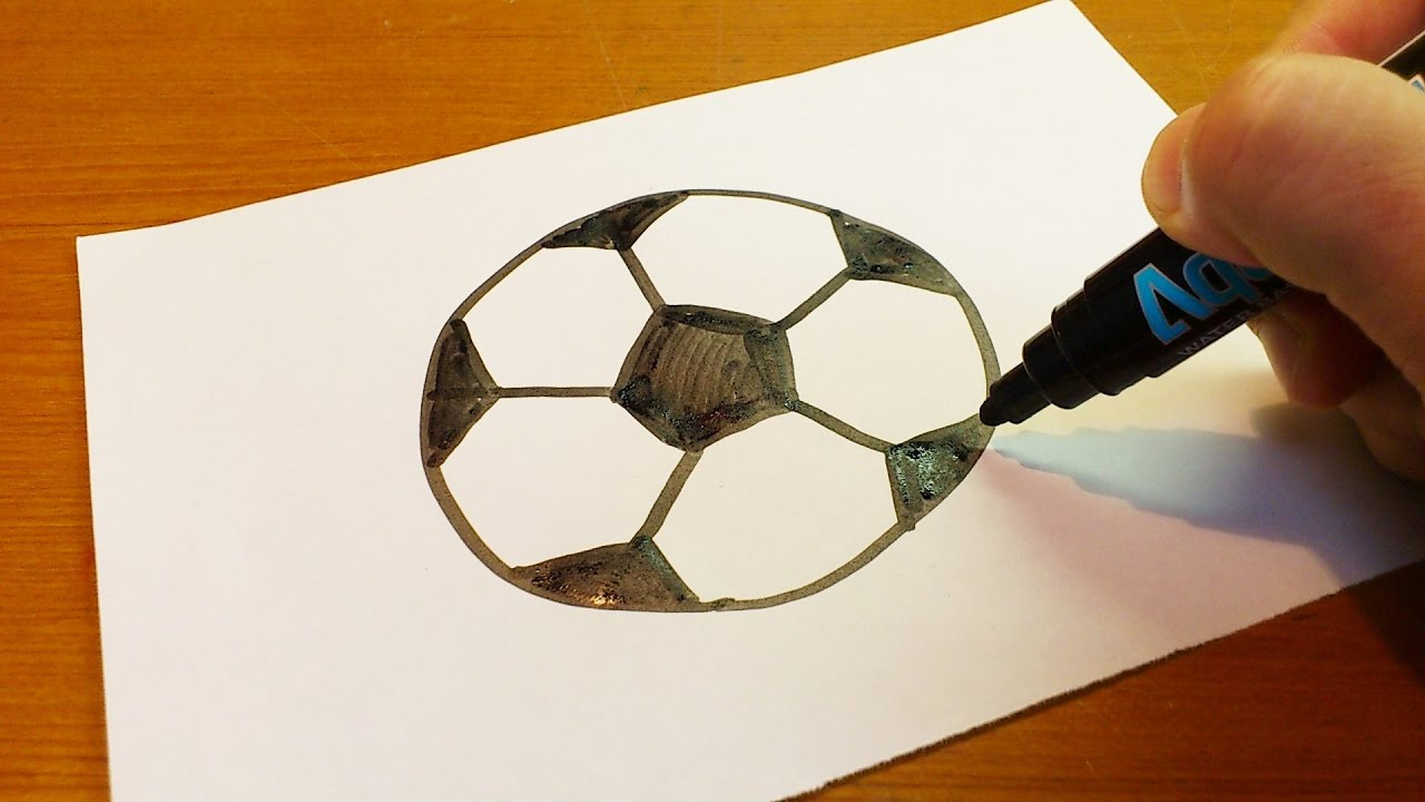 1280x720 How To Draw A Simple Soccer Ball Very Easy ! How To Draw A Soccer