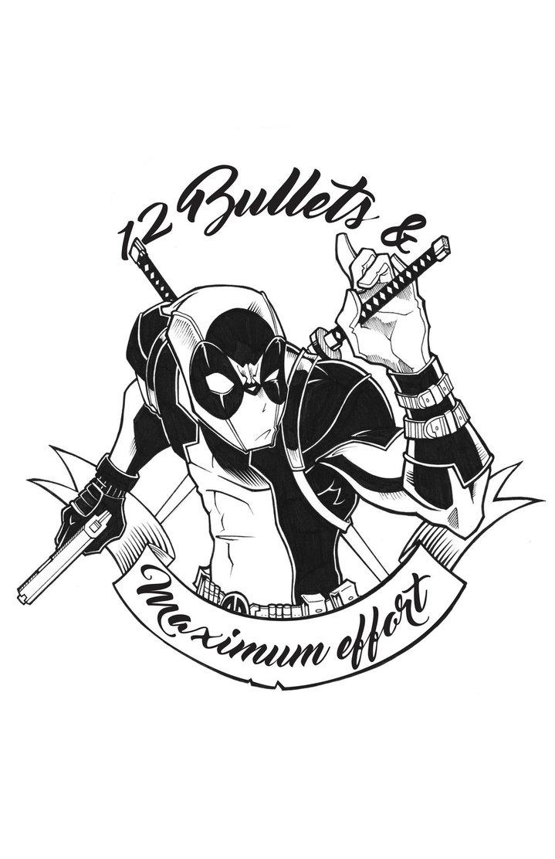 719x1112 Deadpool, 12 Bullets And Maximum Effort By Chokorroll