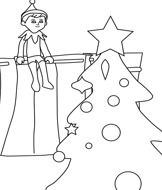 Elf On A Shelf Drawing