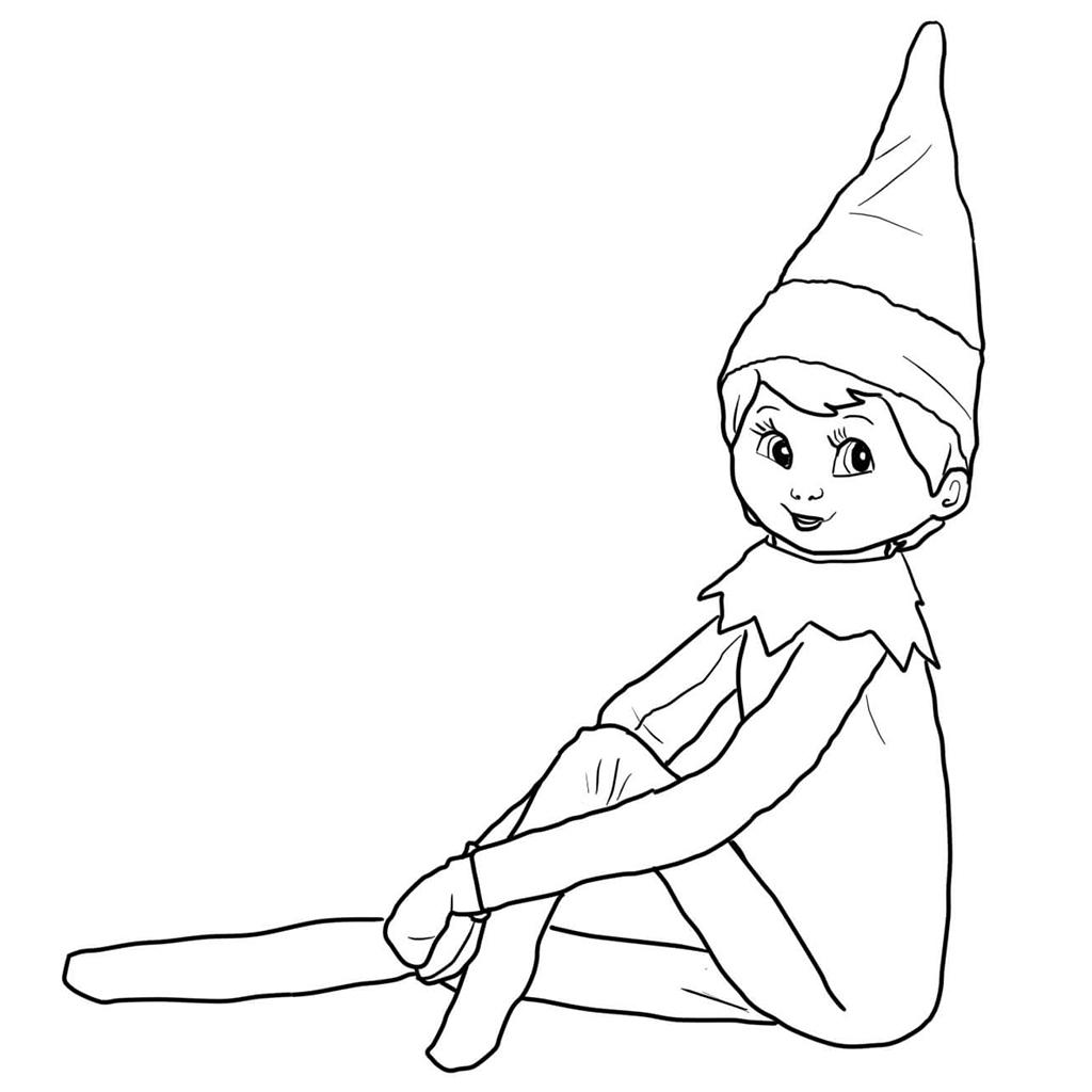 1024x1024 Inspiring Elf On The Shelf Coloring Book Colouring To Amusing Elf