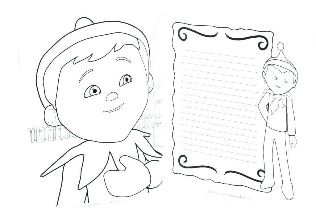 1024x712 Pictures Of Elves To Color Coloring Pages Elf The Shelf Elf