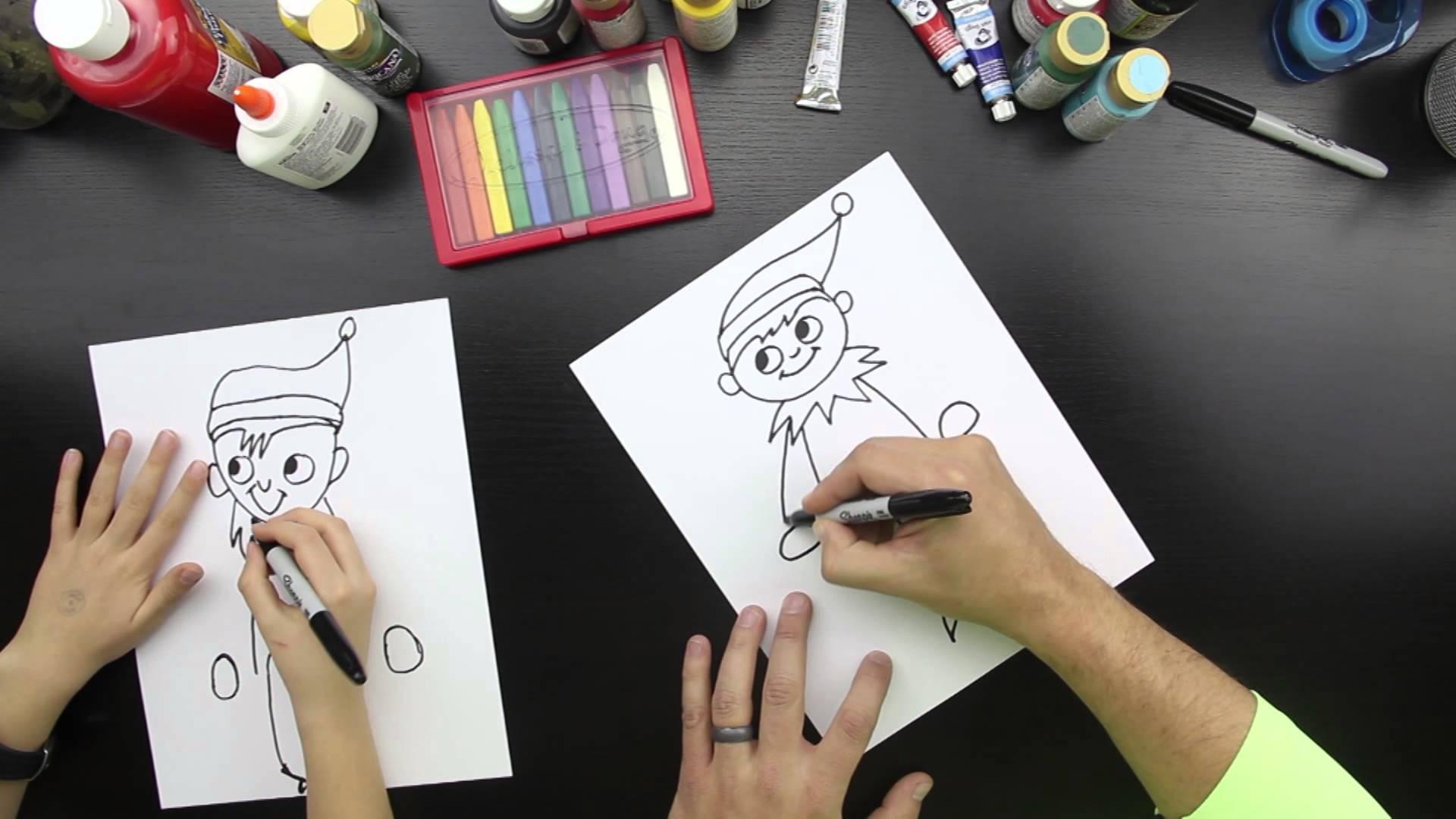 1920x1080 How To Draw Elf On A Shelf