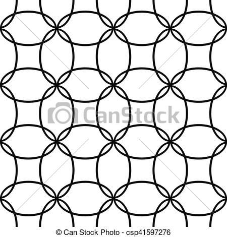 450x470 Seamless Black And White Ellipse Pattern Design. Seamless