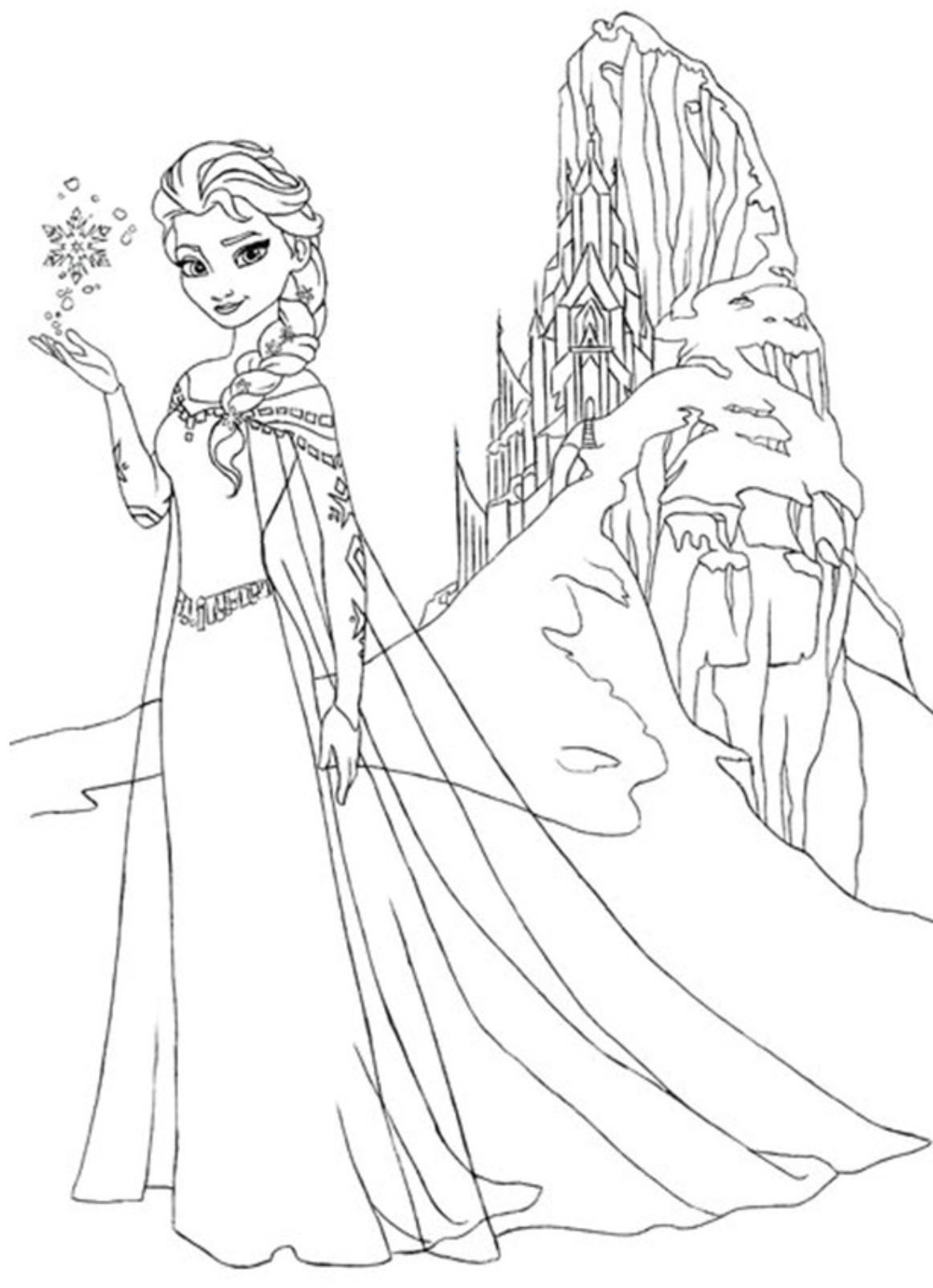 Elsa Drawing Outline At Getdrawings Com Free For Personal Use Elsa